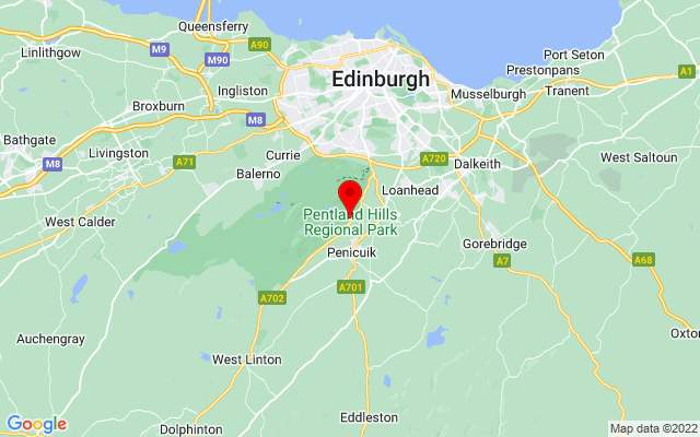 Google Map of pentland hills flotterstone