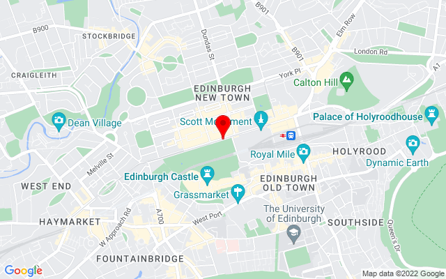 Google Map of princes street edinburgh