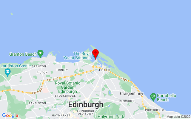 Google Map of royal yacht britannia