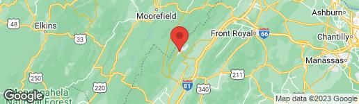 Map of RYAN ROAD BASYE, VA 22810