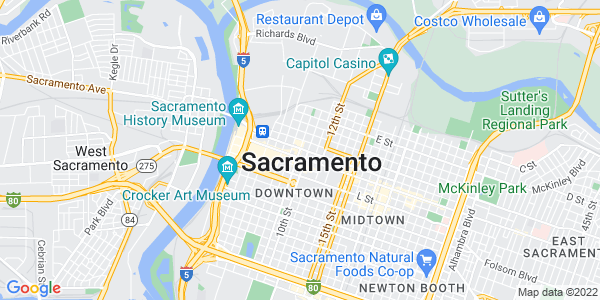 Google Map of Sacramento