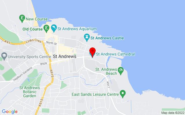Google Map of saint andrews cathedral scotland