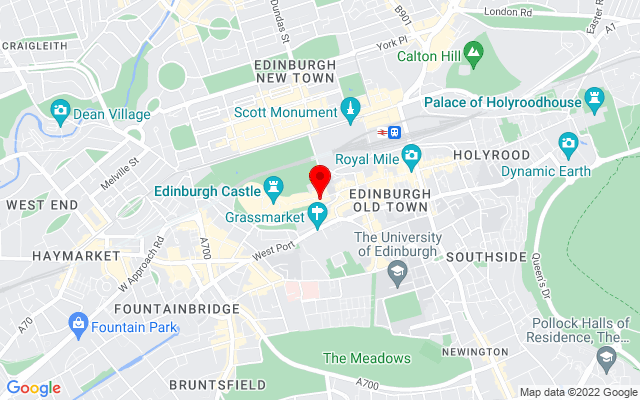 Google Map of scotch whisky experience