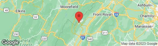Map of SUSAN RD #256 BASYE, VA 22810