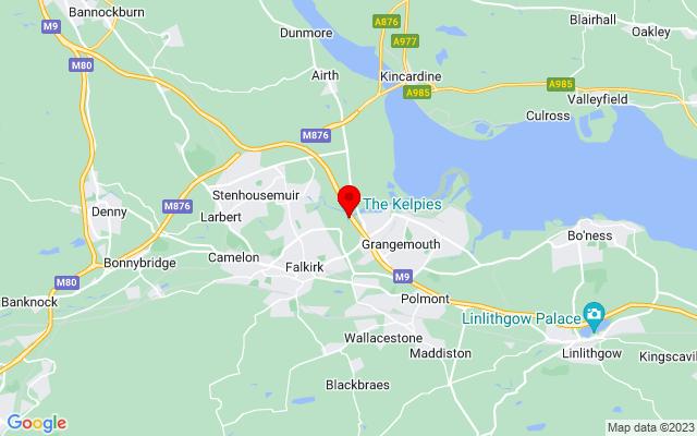 Google Map of the kelpies scotland