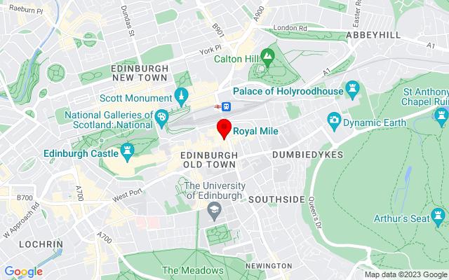 Google Map of the royal mile edinburgh