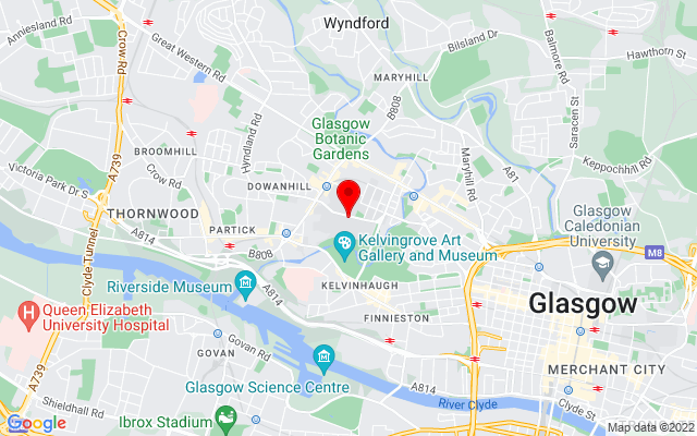 Google Map of university of glasgow