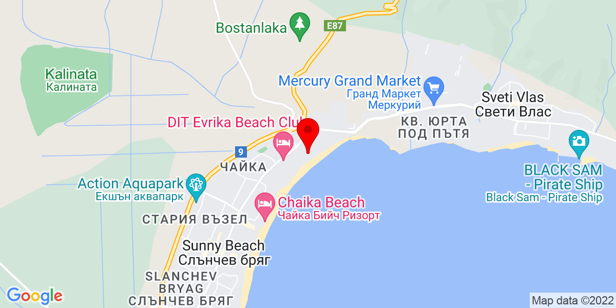 Google Map of victoria palace sunny beach