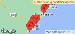 Map for Playa Del Carmen