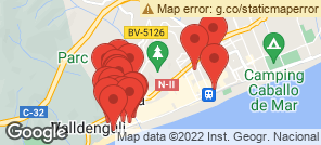 Map for Calella