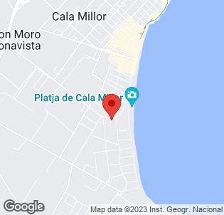 Map for Hipotels Aparthotel Cala Millor Park
