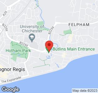 Map for Butlins Bognor Regis