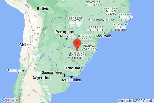 グアラニーのイエズス会伝道所群:サン・ミゲル・ダス・ミソンイス遺跡の場所