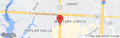 Econo Lodge at Military Circle - Location on map
