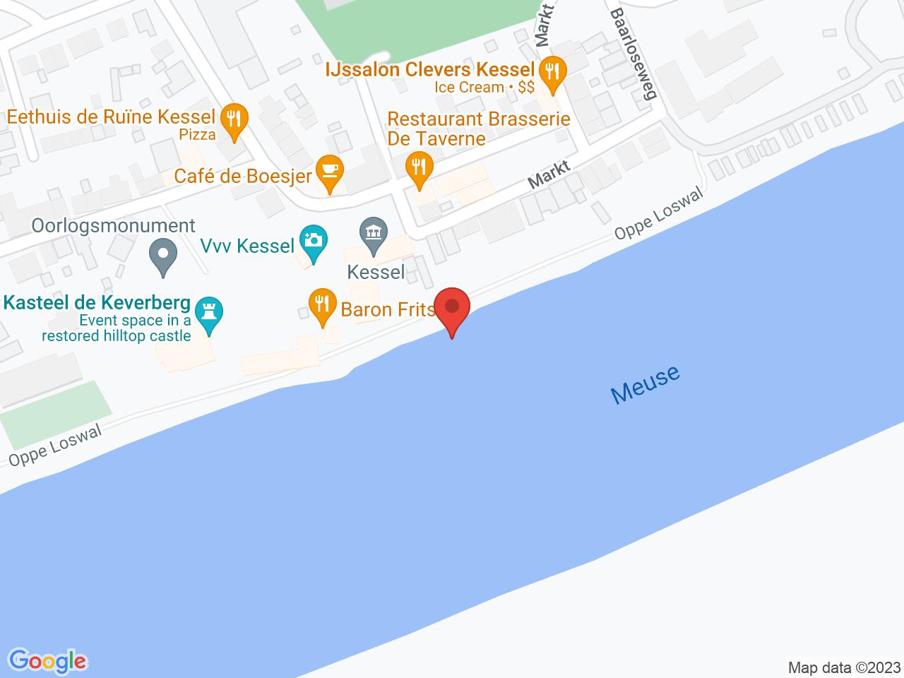 Maasboulevard Kessel op een kaart getoond.