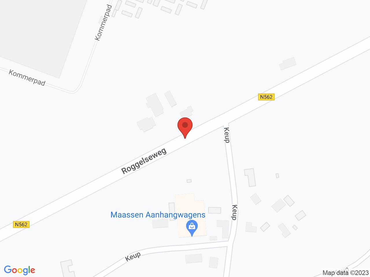 Uitbreiding elektriciteitsnet Grashoek, Panningen, Egchel, Helden op een kaart getoond.