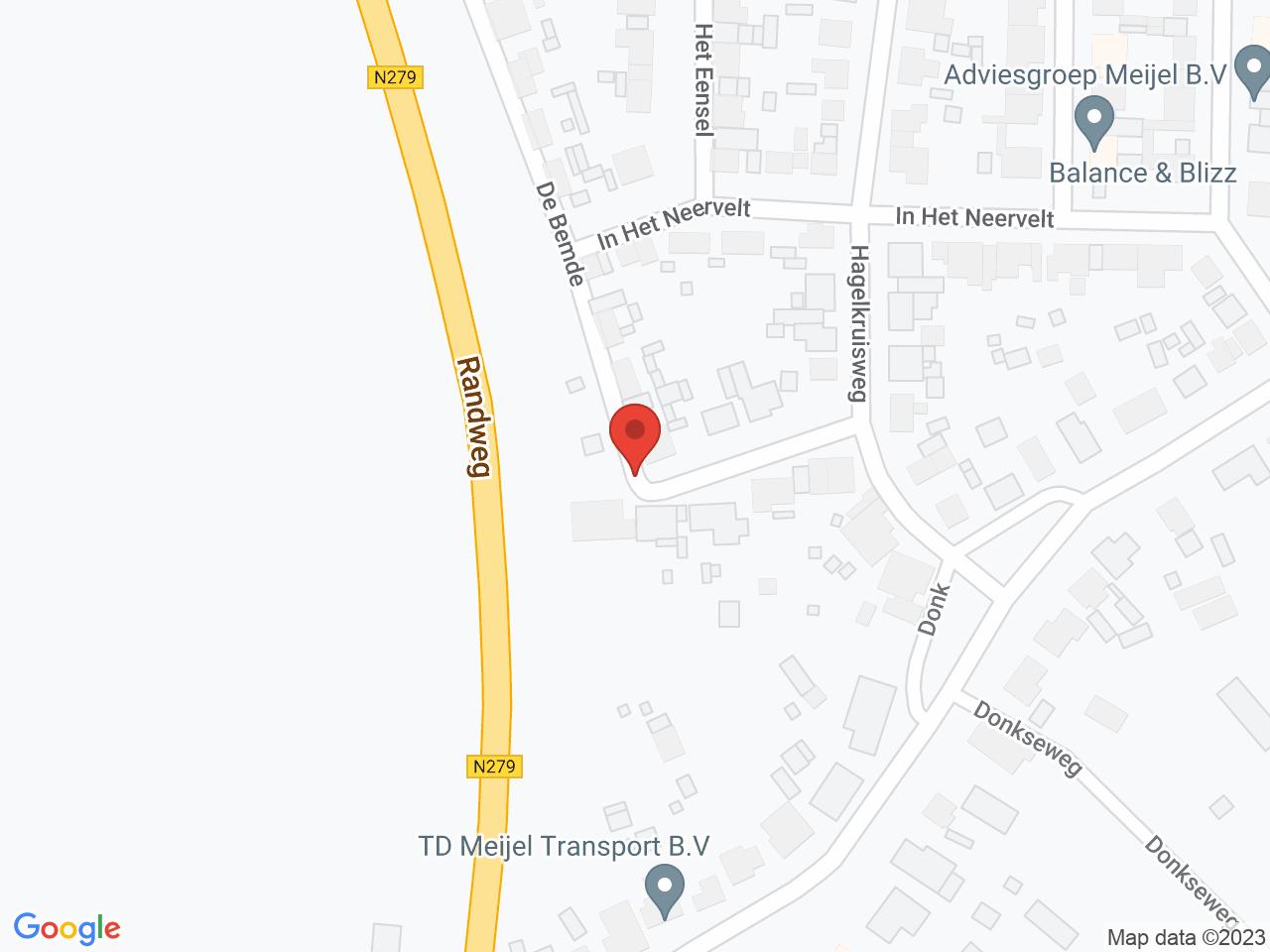 Herinrichting Hagelkruisveld Meijel op een kaart getoond.