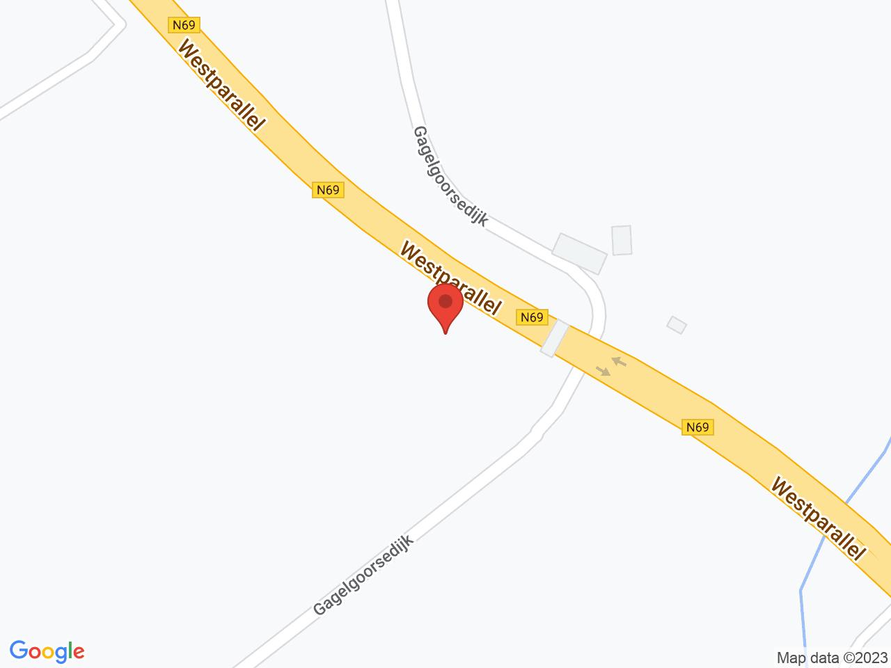 Afsluiting Gagelgoorsedijk 3 augustus op een kaart getoond.