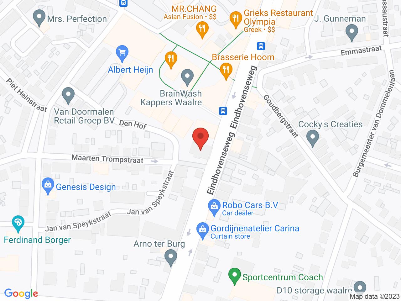 Locatie De Meiboom op een kaart getoond.