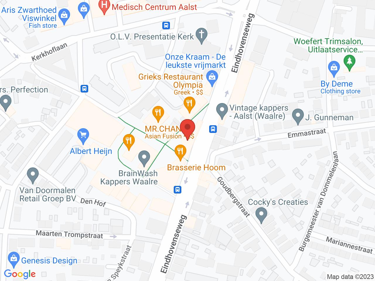 Verwerving noordelijk poortgebouw op een kaart getoond.