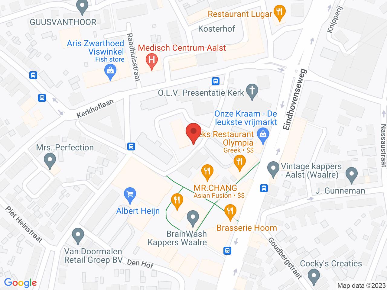 Winkelcentrum Den Hof-2 op een kaart getoond.