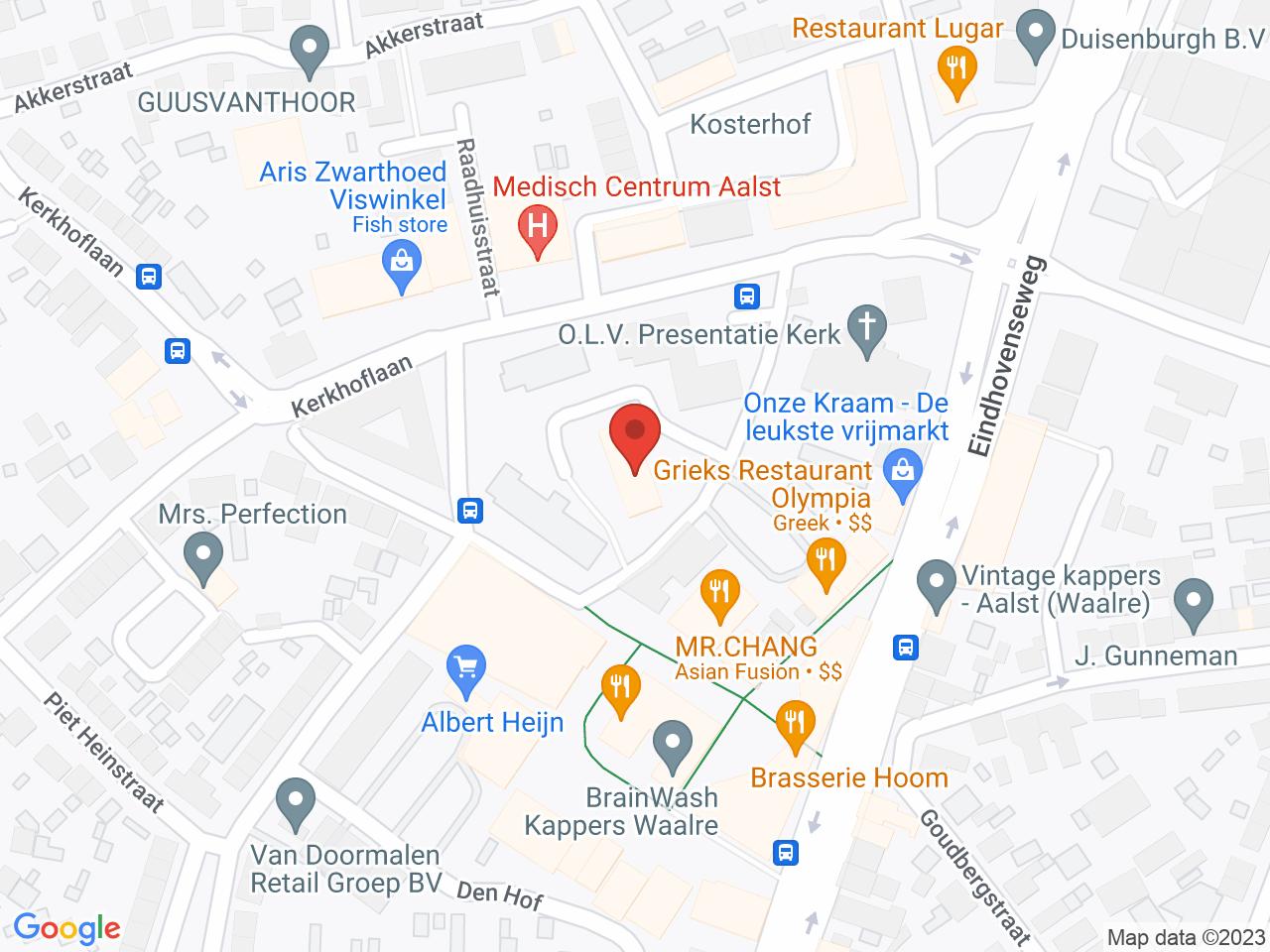 Gezondheidscentrum Le Sourire op een kaart getoond.