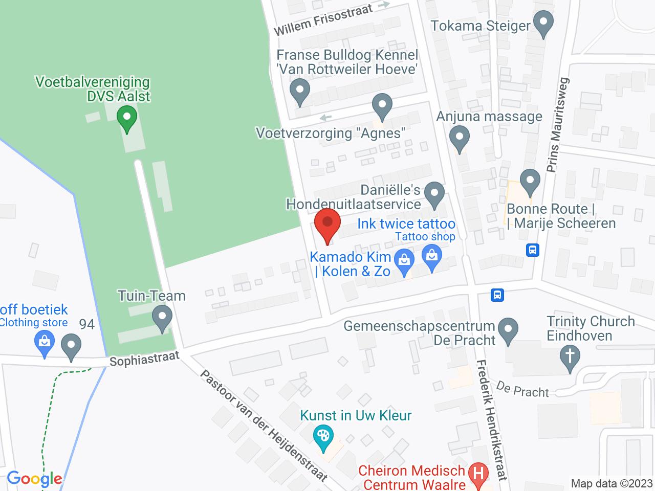 Arembergstraat 1F op een kaart getoond.