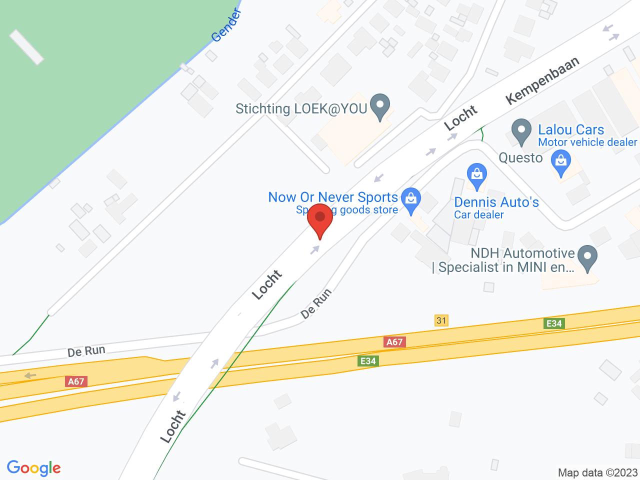 Afsluiting Heerseweg tot Locht (tot eind oktober) op een kaart getoond.