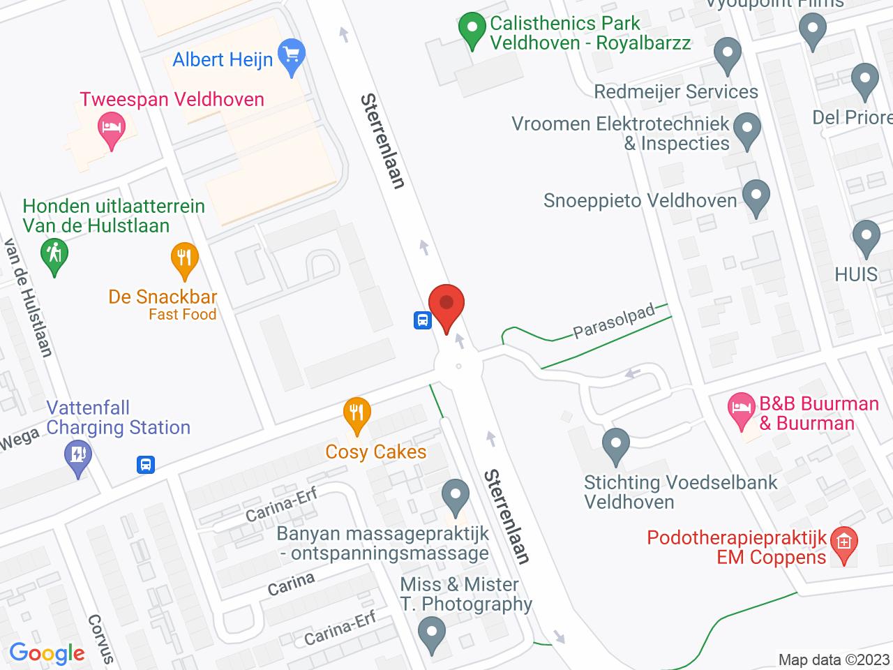 Rotonde Sterrenlaan - Mullerlaan op een kaart getoond.