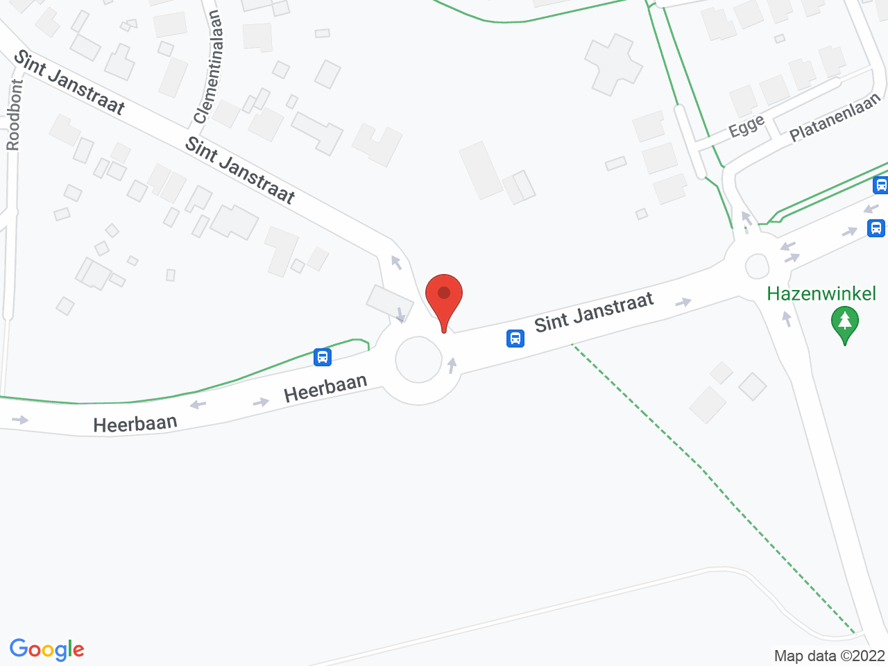 Rotonde Heerbaan - St. Jansstraat op een kaart getoond.