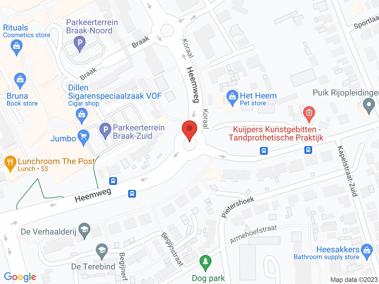 Rotonde Heemweg - Hagendoornseweg op een kaart getoond.