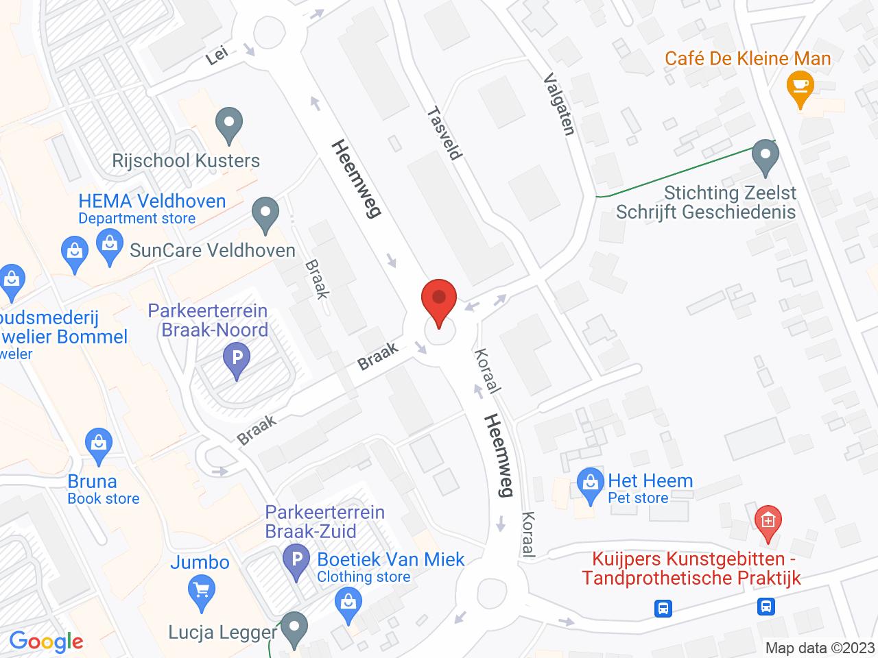 Rotonde Heemweg - Tasveld 2 op een kaart getoond.