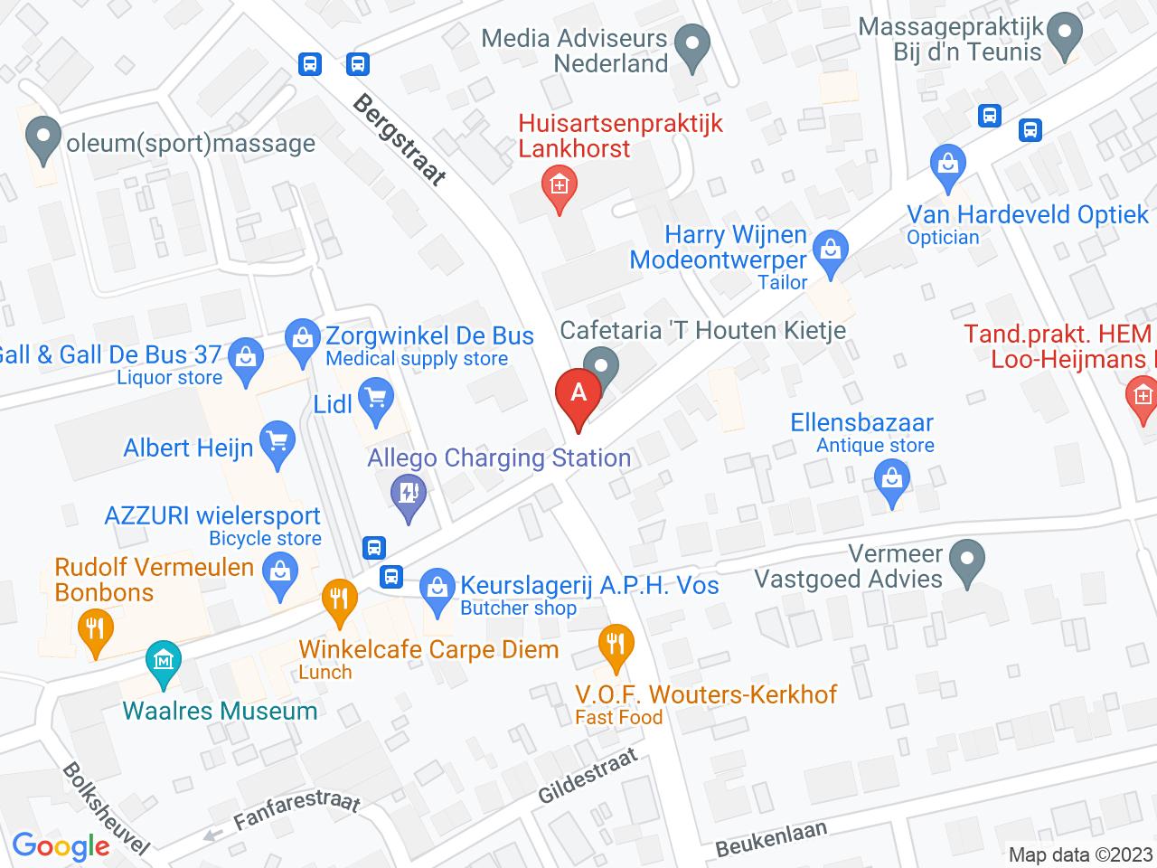 Aanpassing aan kruising Traverse/Willibrorduslaan op een kaart getoond.