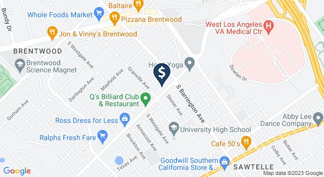 Google Map of 11755 Wilshire Blvd. 1st Floor Suite 10, Los Angeles, CA 90025