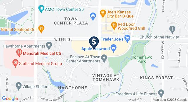 Google Map of 11934 Roe Avenue, Overland Park, KS 66209