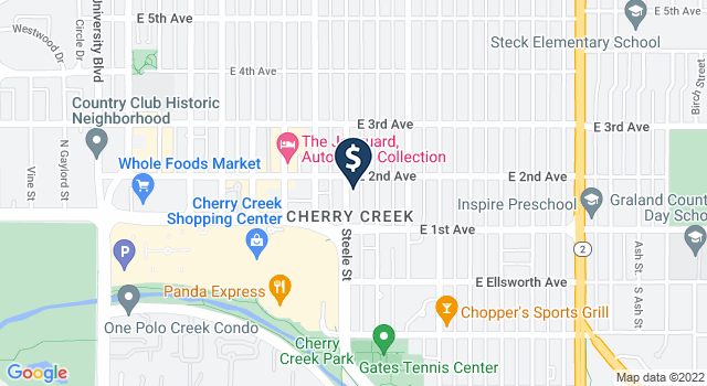 Google Map of 154 Steele Street, Denver, CO 80206
