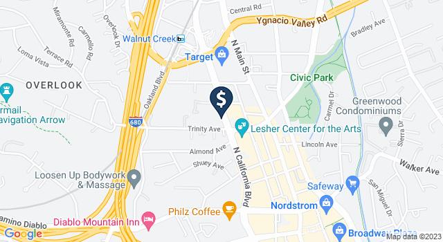 Google Map of 1631 N. California Boulevard, Walnut Creek, CA 94596