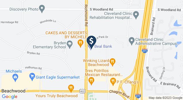 Google Map of 3311 Richmond Rd., Beachwood, OH 44122