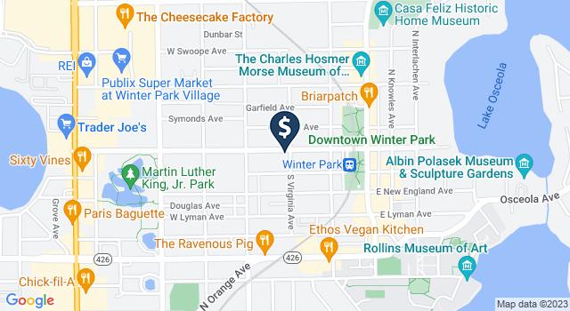 Google Map of 400 W. Morse Blvd., Winter Park, FL 32789