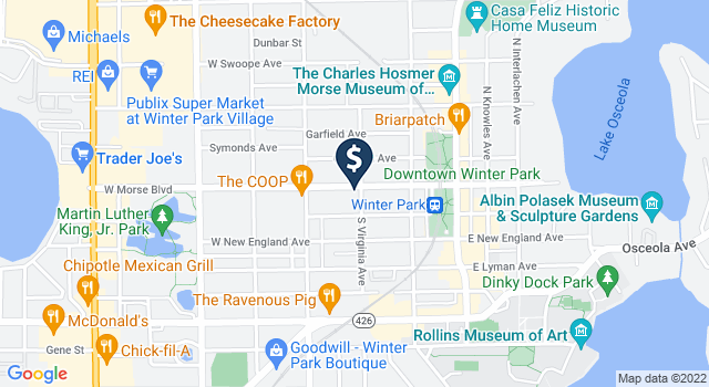 Google Map of 400 W. Morse Blvd., Winter Park, FL 32789