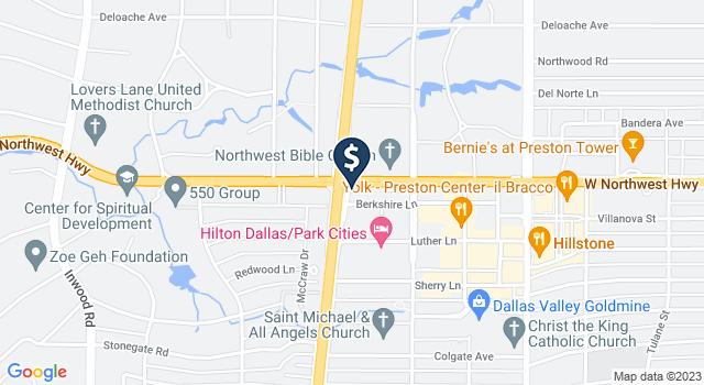Google Map of 5909 Berkshire Lane, Dallas, TX 75225