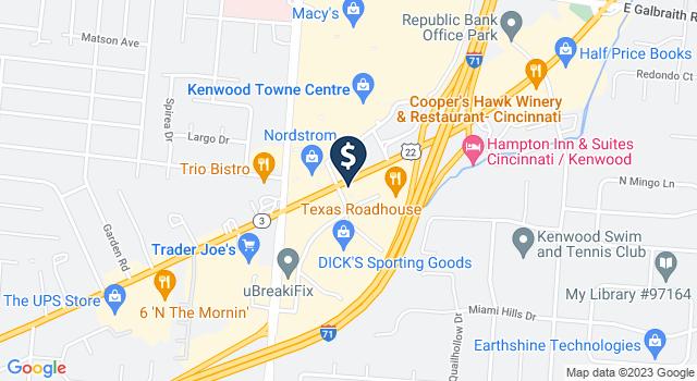 Google Map of 7880 Montgomery Road, Cincinnati, OH 45236