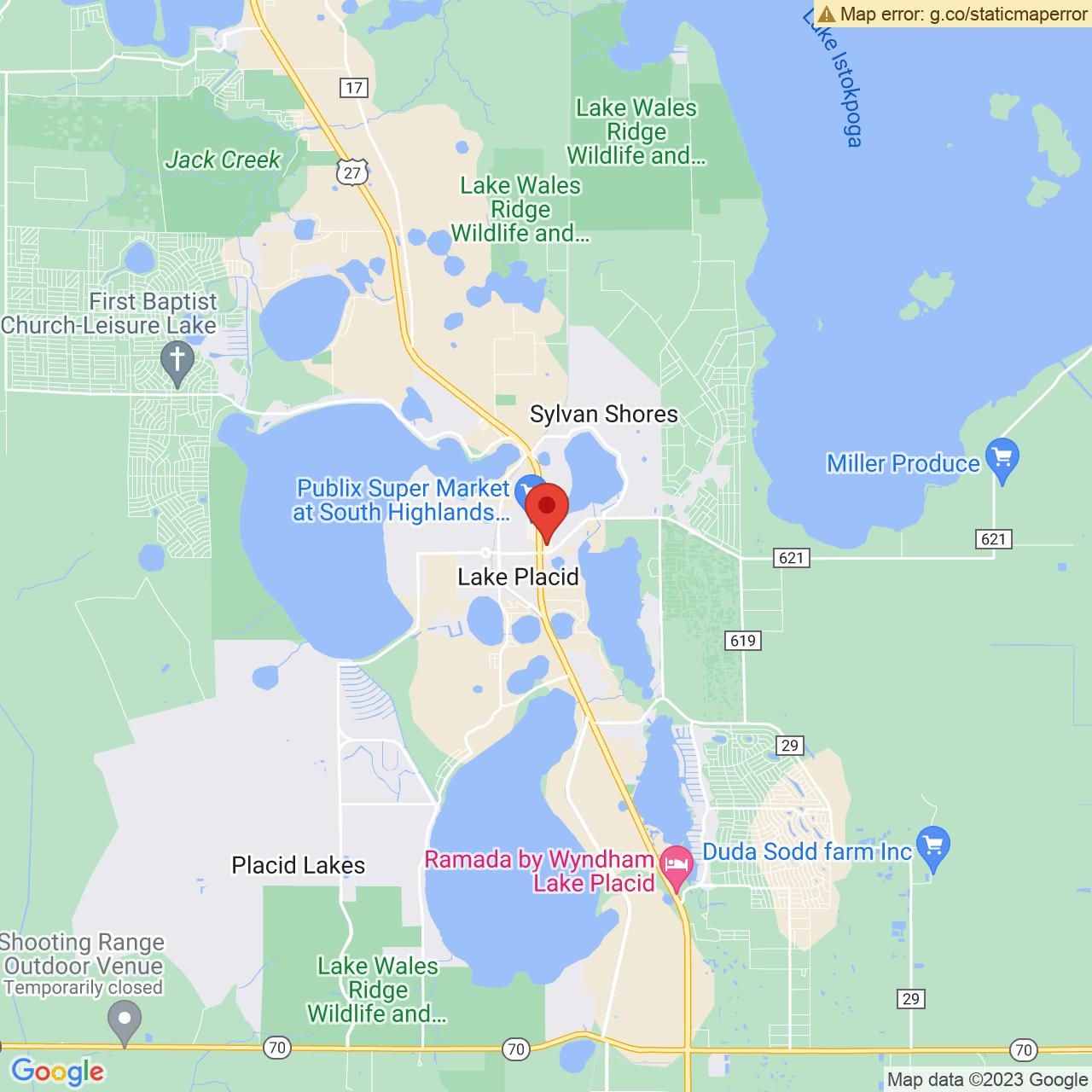 Save A Lot 70 Plaza Ave Lake Placid FL location map