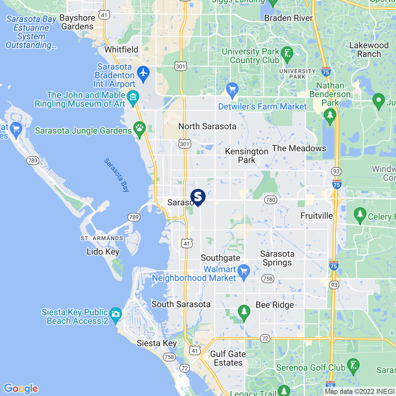Save A Lot 200 N Lime Ave Sarasota FL location map