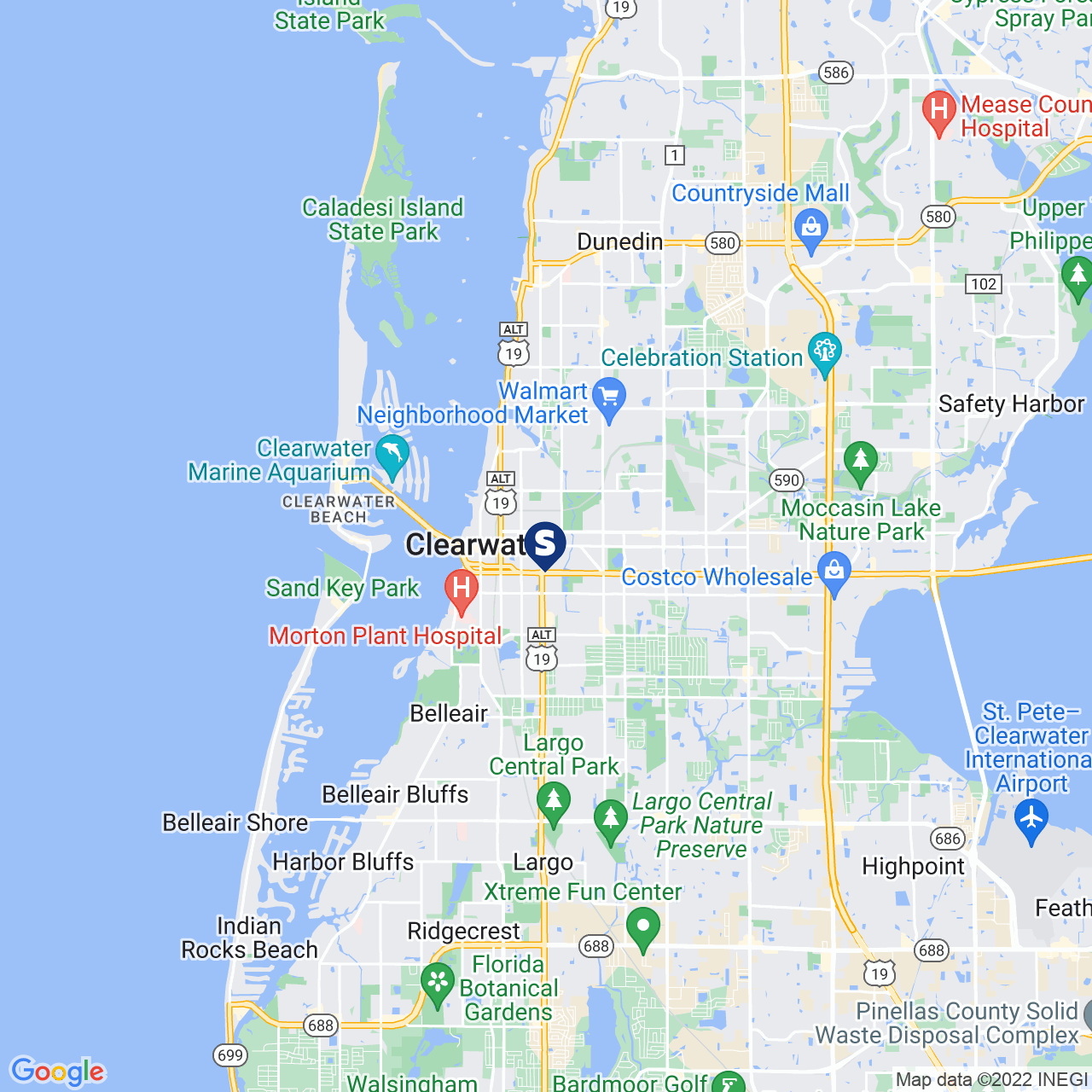 Save A Lot 1209 Cleveland St Clearwater FL location map
