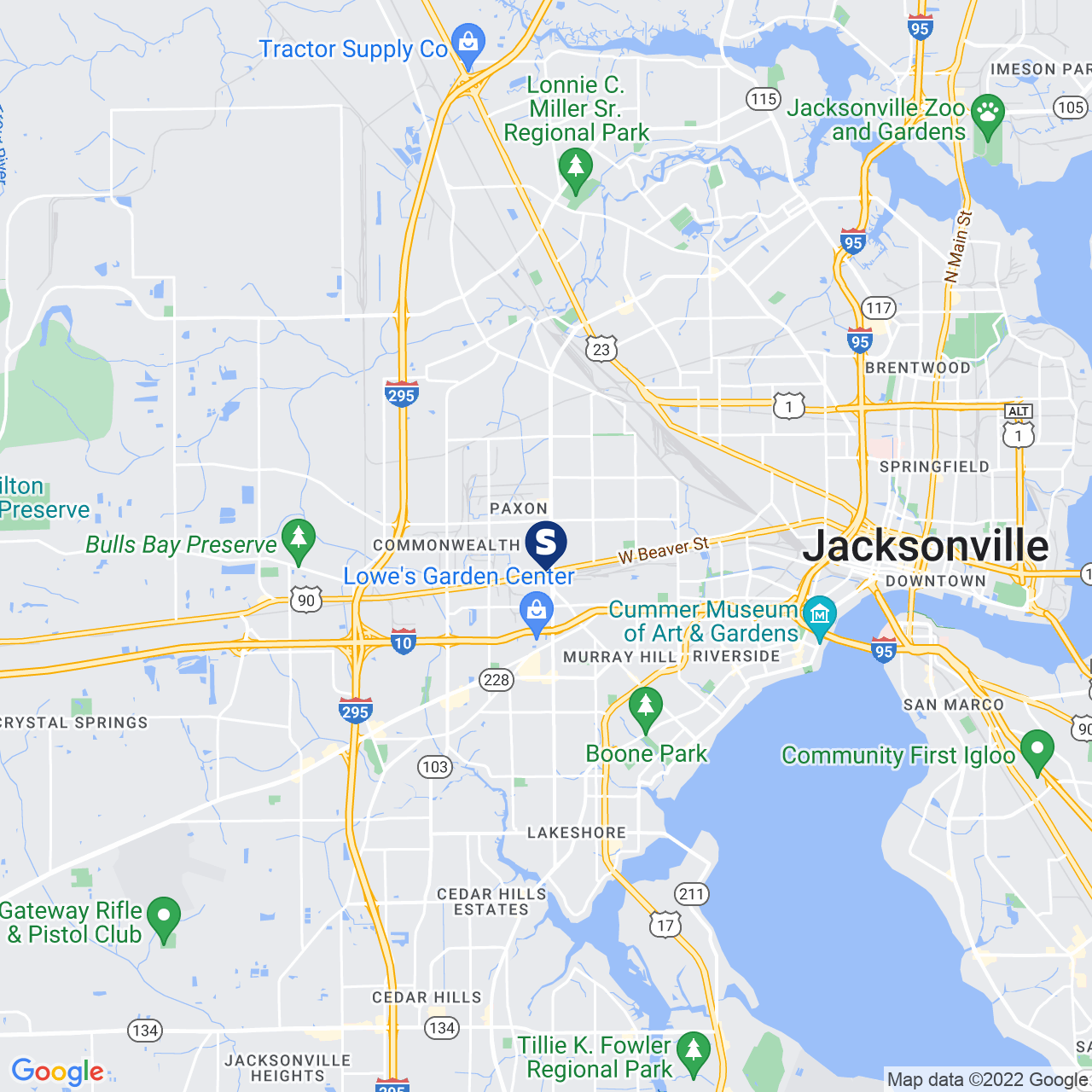 Save A Lot 762-1 Edgewood Ave N Jacksonville FL location map