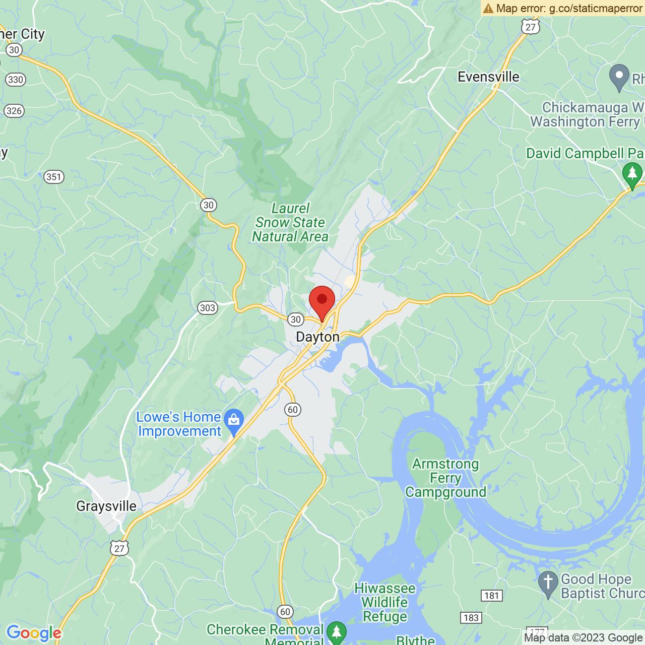 Save A Lot 4285 Rhea City Hwy Dayton TN location map