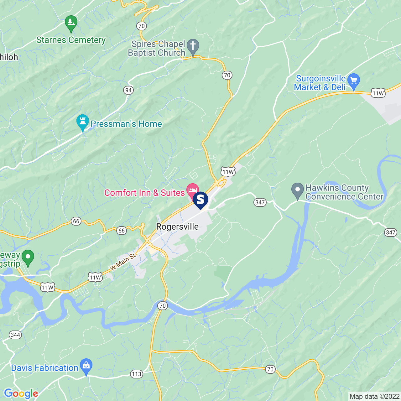 Save A Lot 420 Park Blvd Rogersville TN location map