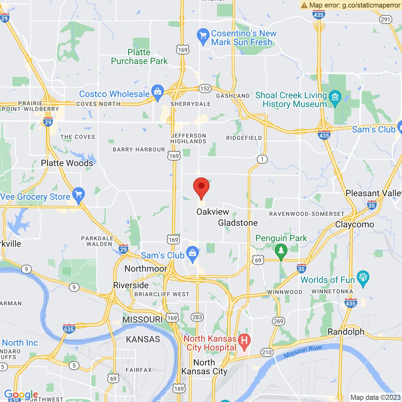 Save A Lot 6599 N Oak Trafficway Gladstone MO location map