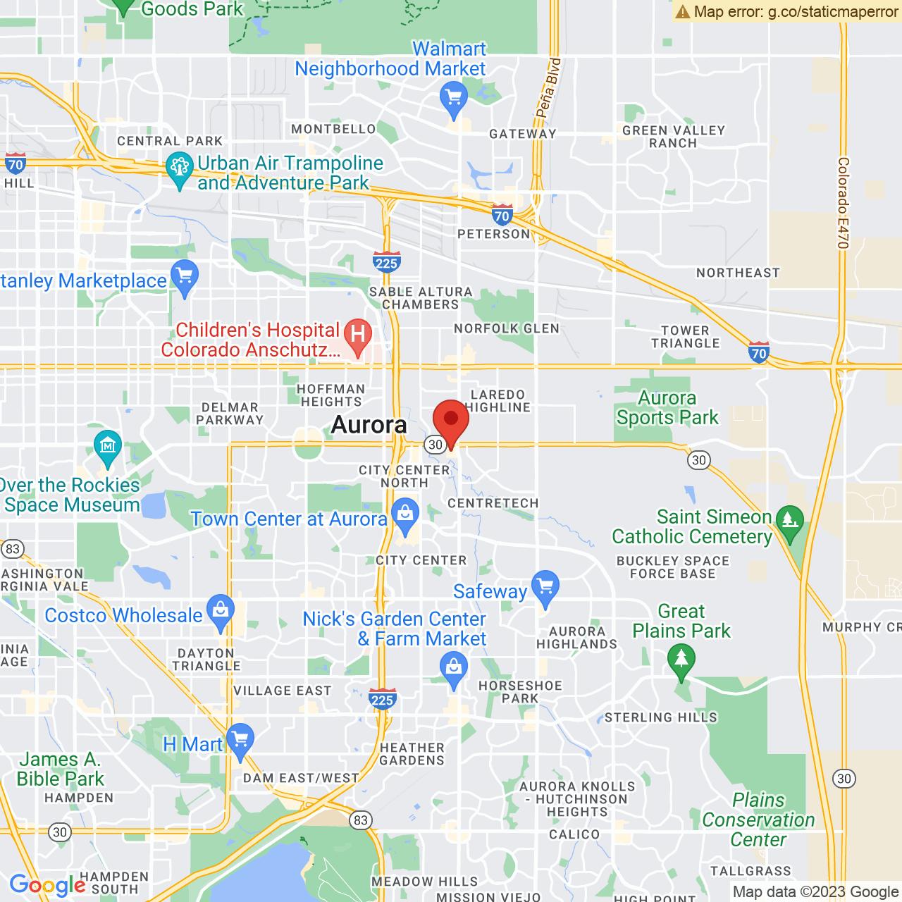 Save A Lot 15220 E 6th Ave Aurora CO location map